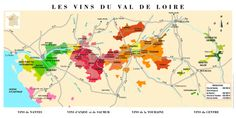 Map of the vineyards of the Loire