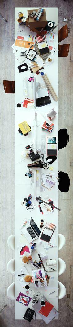 Modern Workspace :: iPad, iMac, iMac, iMac and MacBook... PERFECT!