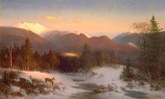 """Mount Lafayette"".  1870. (by Thomas Hill)."