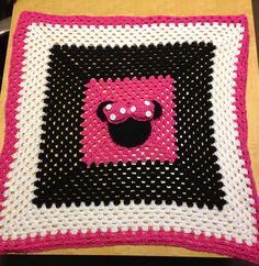 Minnie Mouse Crochet Baby Blanket on Etsy, $35.00