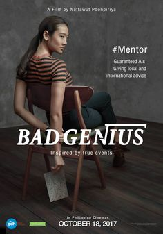 International Thai film Bad Genius coming to Philippine Cinemas starting October 18.