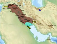 History of Mesopotamia - Map of the Akkadian Empire (brown) and the directions in which military campaigns were conducted (yellow arrows) Ancient Mesopotamia, Ancient Civilizations, Akkadian Empire, 3rd Millennium, Beach Pink, Cradle Of Civilization, Ancient Near East, Susa, World Economic Forum
