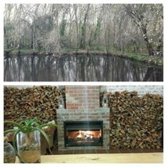 Ready for winter. plenty of wood, wine and warmth. Bringing the outside indoors! Tasting Room, Wines, Vineyard, Old Things, Indoor, Wood, Beautiful, Interior, Woodwind Instrument