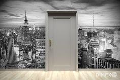 Čiernobiela fototapeta New York | DIMEX Wall Murals, Garage Doors, Outdoor Decor, Inspiration, Home Decor, Wallpaper Murals, Biblical Inspiration, Decoration Home, Murals