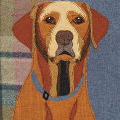 Fox Red Labrador Cushion Fox Red Labrador Pillow Dog breed   Etsy Applique Cushions, Applique Quilt Patterns, Dog Cushions, Applique Templates, Embroidered Cushions, Applique Designs, Embroidery Designs, Pillows, Free Motion Embroidery