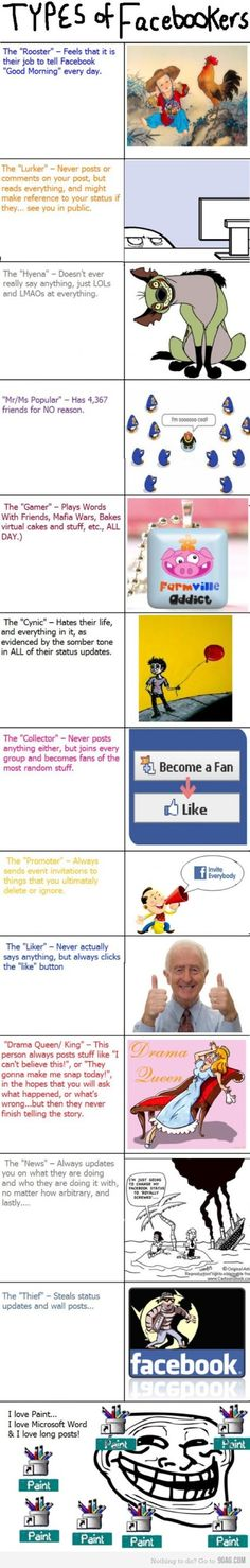 Type of Facebookers. Which one are you?
