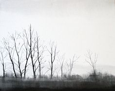 Winter Trees  Original Watercolor Painting 20x16 by APhilipArt, $200,00