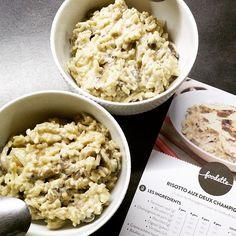 Un bon risotto aux deux champignons - Par @sheilyparisienne