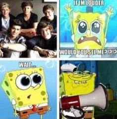 One Direction and Spongebob