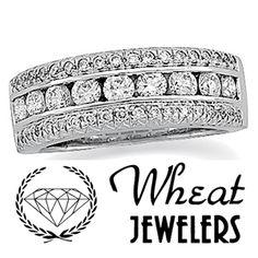 Round diamond anniversary band created by Wheat Jewelers