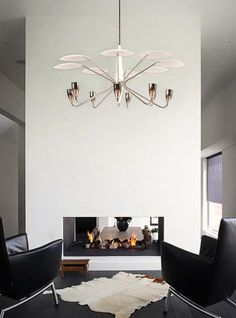 2 Light One Tier Anchor Chandelier from the Leme Collection