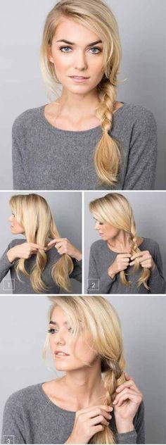 ✔️17 Peinados con Trenzas, fáciles tutoriales paso a paso