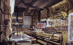 Syd Mead concept art from the Blade Runner 30th Anniversary blu-ray still…