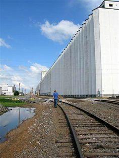 World's longest grain elevator in Hutchinson, Kansas, by bojojoti, via Flickr
