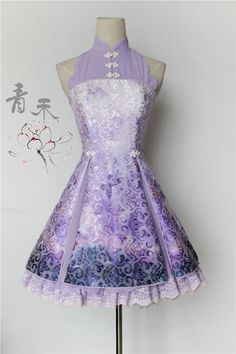 --> Pre-order: Qinghe ~Darkstriped Butterflies and Flowers~ Qi Lolita JSK --> Pre-order Price: 84.99USD | After pre-order price: 88.99USD --> Save Now: http://www.my-lolita-dress.com/qinghe-darkstriped-butterflies-and-flowers-qi-lolita-jumper-dress-qhl-3