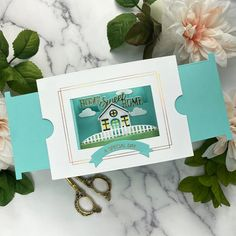 Make a Scene Card Base Etched Dies from Make a Scene Collection by Becca Feeken Becca, Special Day, Slider Window, Scene, Greeting Cards Handmade, Cozy House, Three Dimensional, House Warming, How To Make