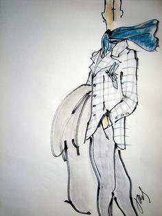 Joel Woodard - fashion illustration men