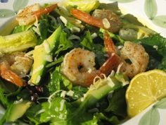 roasted shrimp and avocado citrus greens...in less than 20 minutes