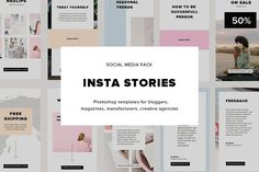 INSTA STORIES - Social Media Pack by Marie.Smth on @creativemarket