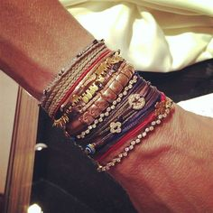 Another day, another arm stack by Apriati jewels. Completely personalised to the mood of her day in Mykonos. Photo: Apriati Jewels
