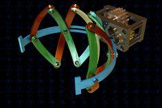 Spherical Gripper Mechanism | 3D CAD Model Library | GrabCAD Mechanical Engineering Design, Mechanical Design, Engineering Projects, Mechanical Gears, Mechanical Power, Stick Fight, Pop Art Wallpaper, 3d Cad Models, Kinetic Art