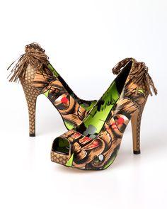 Iron Fist Tiki Toes Platform Shoes - Brown (Vegan) - Punk.com
