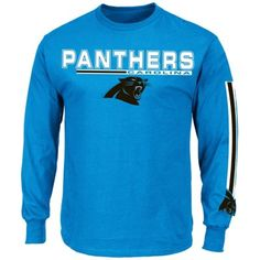 Carolina Panthers Primary Receiver V Big & Tall Long Sleeve T-Shirt - Panther Blue