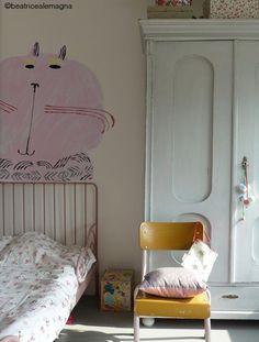 cat mural - beatrice alemagna