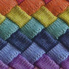 Puffy Mondaes™ - Entrelac Knitting Class with Ruth Burdeshaw, $40