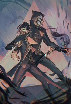 The Dynamic Duo - By vetranyx : dishonored Game Character Design, Character Art, Imagenes Dark, Maron, Arkane Studios, Like Father Like Daughter, Dishonored 2, Animation, Videogames
