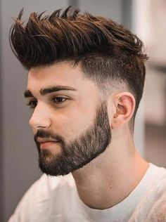 Short Beard Styles the collection of hair that grows on the chin and cheeks of humans and some non-human animals. Styles for men and Beard styles. Mens Hairstyles With Beard, Cool Hairstyles For Men, Undercut Hairstyles, Boy Hairstyles, Haircuts For Men, Hairstyle Ideas, Hair Ideas, Anime Hairstyles, Stylish Hairstyles