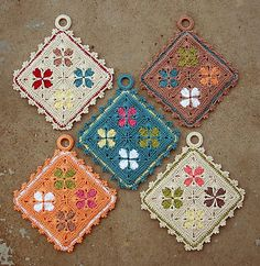 cathedral window pot holders