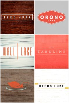 more lake logos... love 'em! Don't know why I am so drawn to them.