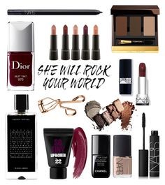 """Fall Makeup"" by maria1c ❤ liked on Polyvore featuring schoonheid, Tom Ford, NARS Cosmetics, Christian Dior, Chanel, Agonist en Tweezerman"