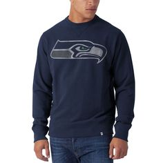 Seattle Seahawks - Seahawk Logo Striker Midnight Premium Crew Neck Sweatshirt