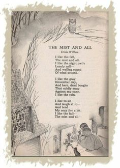 I like the fall Yhe mist and all Pomes, Tim Burton, Fall Halloween, Halloween Poems, Vintage Halloween, Poetry Quotes, Nursery Rhymes, Beautiful Words, Mists
