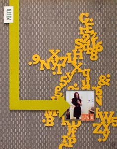 Using letter stickers