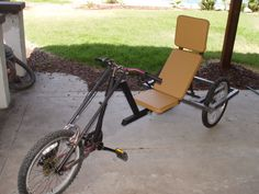 $100 Recumbent Trike. Thinking about this for future use. Would need straps and adapted pedals. Love this!