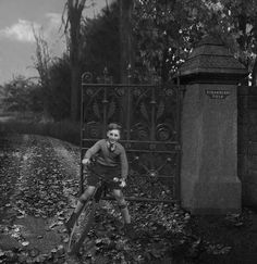 John at Strawberry Fields as a boy.