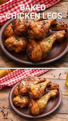 Oven Chicken Recipes, Chicken Drumstick Recipes, Cooking Recipes, Healthy Recipes, Recipes With Chicken Drumsticks, Bake Chicken Drumsticks Oven, Roast Chicken Legs Recipe, Chicken Drummies Recipes, Canning Recipes