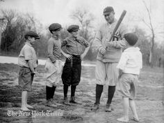 Ty Cobb Gives A Batting Lesson - 1921