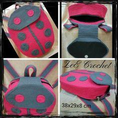 뜨개와수다의 만남   BAND Crochet Backpack, Crochet Clutch, Crochet Handbags, Crochet Purses, Diy Crochet, Crochet Baby, Purse Handles, Girls Bags, Knitted Bags