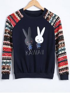 GET $50 NOW | Join RoseGal: Get YOUR $50 NOW!http://www.rosegal.com/sweatshirts-hoodies/rabbit-raglan-sleeve-sweatshirt-766398.html?seid=5328238rg766398