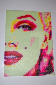 marilyn monroe perler bead art made by me - amanda wasend
