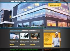 Website Design for Town Group -web design, logo design-