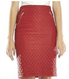 Red Zip Skirt