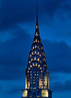 New York City Feelings - The Chrysler at twilight via @isardasorensen