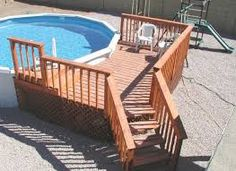 ideas for a deck for above ground pools - Google Search