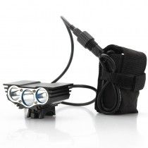 CREE XM-L U2 Bike Light 'RoadRunner' - 3000 Lumens Front Bike Light + Rechargeable Battery Pack