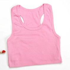 2016 Ladies Vest Cami Racerback Sando Shirt Tank Pink bralette